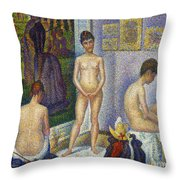 Seurat: Models, C1866 Throw Pillow