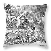 Seven Deadly Sins: Anger Throw Pillow