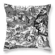 Seven Deadly Sins: Sloth Throw Pillow by Granger