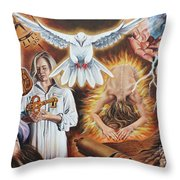 Seven-fold Spirit Of The Lord Throw Pillow