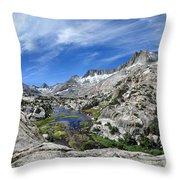 Seven Gables Over Seven Gables Lakes - Sierra Throw Pillow