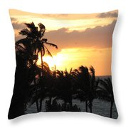 Seven Mile Sunset Throw Pillow