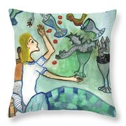 Seven Of Cups And Strange Dreams Throw Pillow