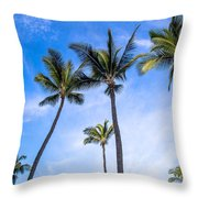 Seven Palms Of Paradise Throw Pillow
