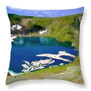 Seven Rila's Lakes Throw Pillow