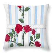 Seven Roses For Mary Throw Pillow