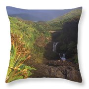 Seven Sacred Pooling Morning Throw Pillow