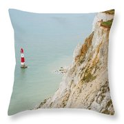 Seven Sisters Cliffs 16 Throw Pillow