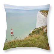 Seven Sisters Cliffs 19 Throw Pillow