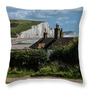 Seven Sisters Cottage Throw Pillow