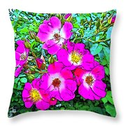Seven Sisters Rose Variant Throw Pillow