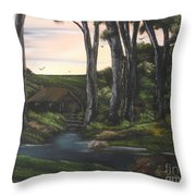 Seven Sisters Secret Retreat Throw Pillow
