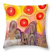 Seven Suns Throw Pillow