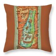 Seven Up Fresh Up Throw Pillow