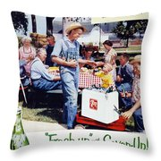 Seven-up Soda Ad, 1954 Throw Pillow by Granger