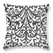 Seventeenth Century Parterre Pattern Design Throw Pillow