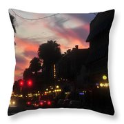 Seventh Avenue Night Throw Pillow