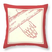 Seventh Station- Jesus Falls The Second Time  Throw Pillow