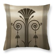 Severance Hall Art Deco Door Detail Throw Pillow