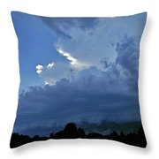 Severe Weather And Waxing Crescent Moon Throw Pillow