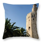 Seville - A View Of Torre Del Oro 2 Throw Pillow