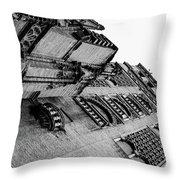 Seville - Giralda In Black And White Throw Pillow