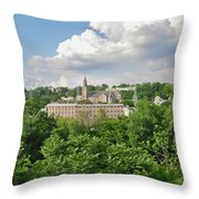 Seville Schofields Mill And St John The Baptist - Manayunk Throw Pillow
