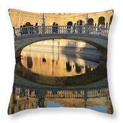 Seville, Spain Tile Bridge Throw Pillow
