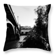 Seville - Triana Bridge Throw Pillow
