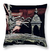 Sewing Machine, Needlepoint Throw Pillow