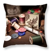 Sewing Notions I Throw Pillow