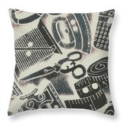 Sewing Scenes Throw Pillow
