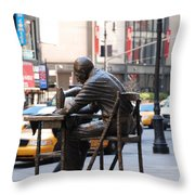 Sewing Sculpture Throw Pillow