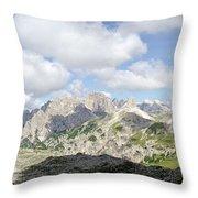 Sextener Dolomites Throw Pillow