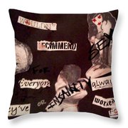 Sexxx Drugs Insanity  Throw Pillow