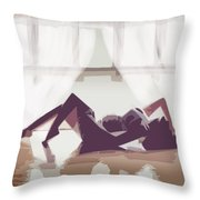 Sexy Babe Yoga Throw Pillow