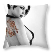 Sexy Back Throw Pillow