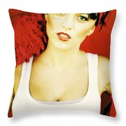 Sexy Cleaning Lady Throw Pillow