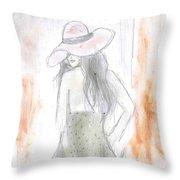 Sexy Lady Throw Pillow