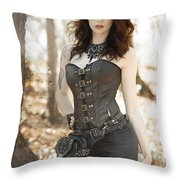 Sexy Steam Punk Throw Pillow