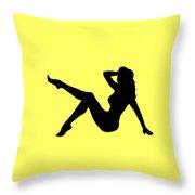 Sexy Trucker Girl Tee Throw Pillow