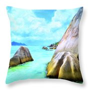 Seychelles Shallows Throw Pillow