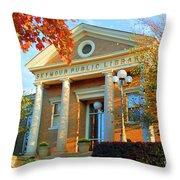 Seymour Public Library Throw Pillow