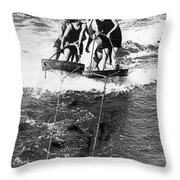 Sf Aquaplane Lovers Throw Pillow
