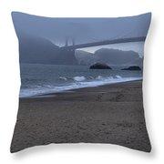 Sf Baker Beach Throw Pillow