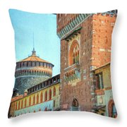 Sforza Castle Milan Italy Throw Pillow