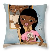 She Has Plans Throw Pillow