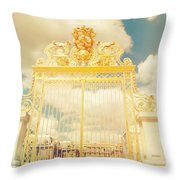 Shabby Chic Gold Gate Versailles Throw Pillow