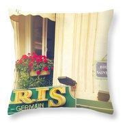 Shabby Chic Paris Saint Germain Throw Pillow