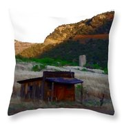 Shack In The Canyons Throw Pillow